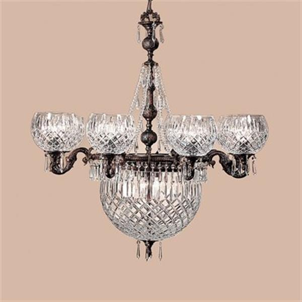 Classic Lighting Waterbury Collection 34-in x 36-in Oxidized Bronze Crystalique Black 12-Light Chandelier