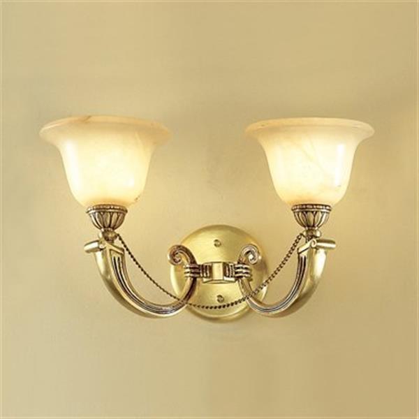 Classic Lighting 2 Light Monica Satin Wall Sconce