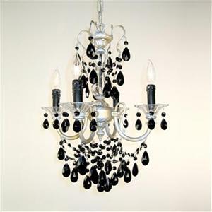 Classic Lighting Via Veneto Collection 17-in x 25-in Millennium Silver Crystalique 4-Light Mini Chandelier