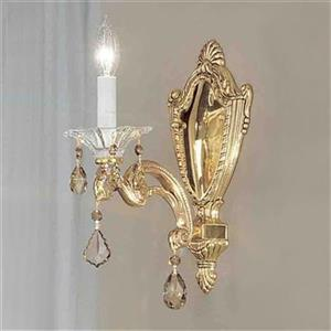 Classic Lighting Via Firenze Bronze/Black Patina Strass Golden Wall Sconce