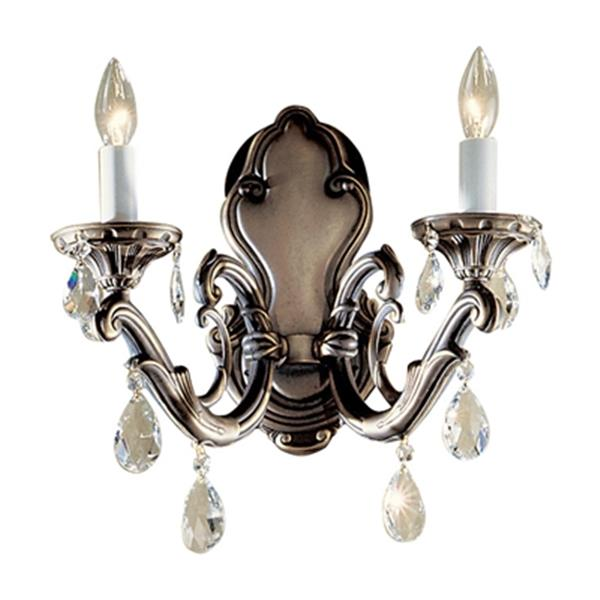 Classic Lighting Princeton II Roman Bronze Swarovski Spectra 2-Light Wall Sconce