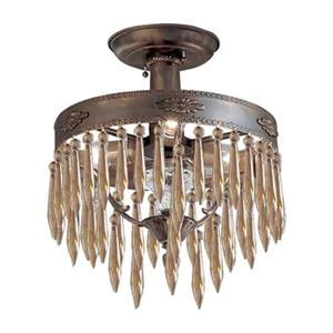 Classic Lighting Duchess Aged Bronze Semi Flush Mount Ceiling Light