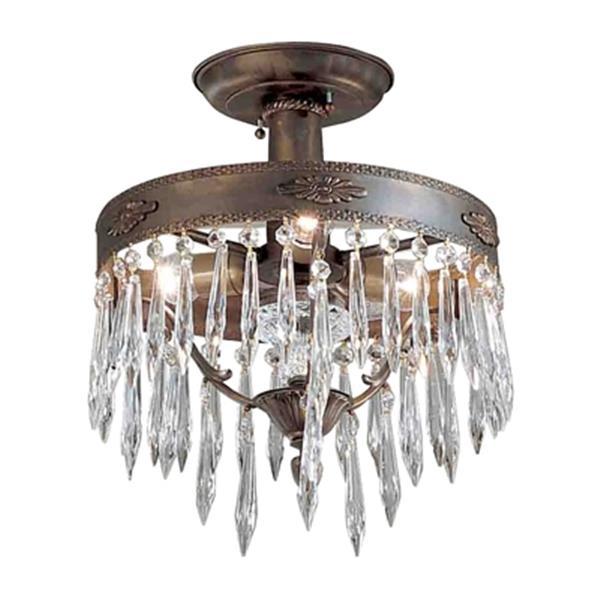 Classic Lighting Duchess Aged Bronze Semi Flush Mount Ceiling Light