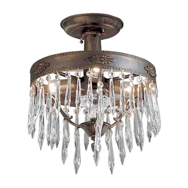 Classic Lighting Duchess Bronze/Black Patina Semi Flush Ceiling Light