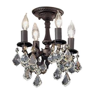 Classic Lighting Majestic 4-Light Aged Bronze Semi Flush Ceiling Light