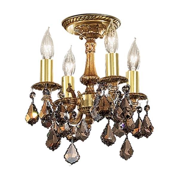 Classic Lighting Majestic 4-Light Aged Pewter Semi Flush Ceiling Light