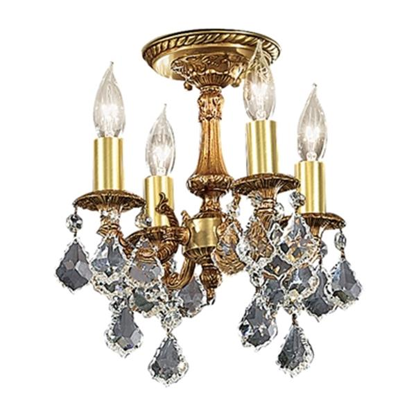 Classic Lighting Majestic 4-Light French Gold Semi Flush Ceiling Light