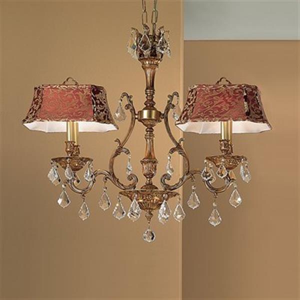 Classic Lighting 4-Light Majestic Chandelier,57360 FG CP