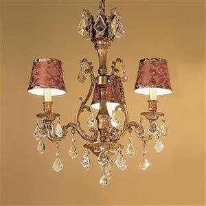 Classic Lighting Majestic Collection 36-in French Gold Crystalique-Plus 3-Light Dinette Chandelier