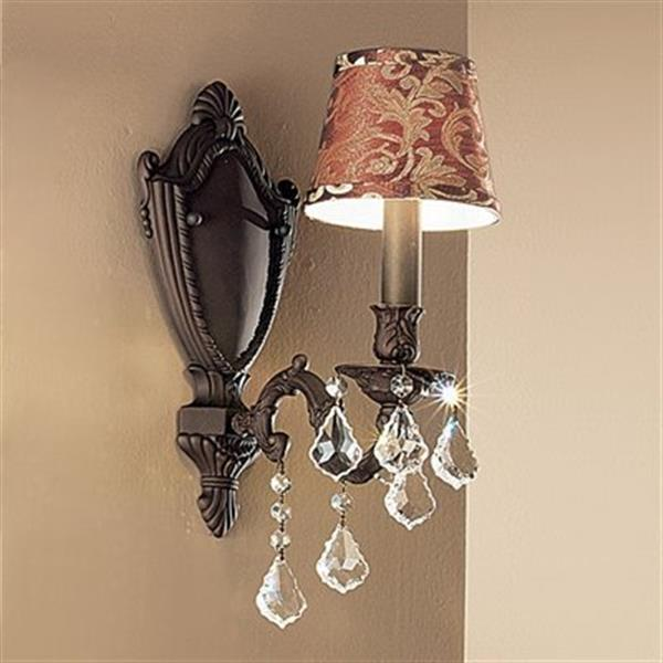 Classic Lighting Chateau Aged Pewter Wall Sconce