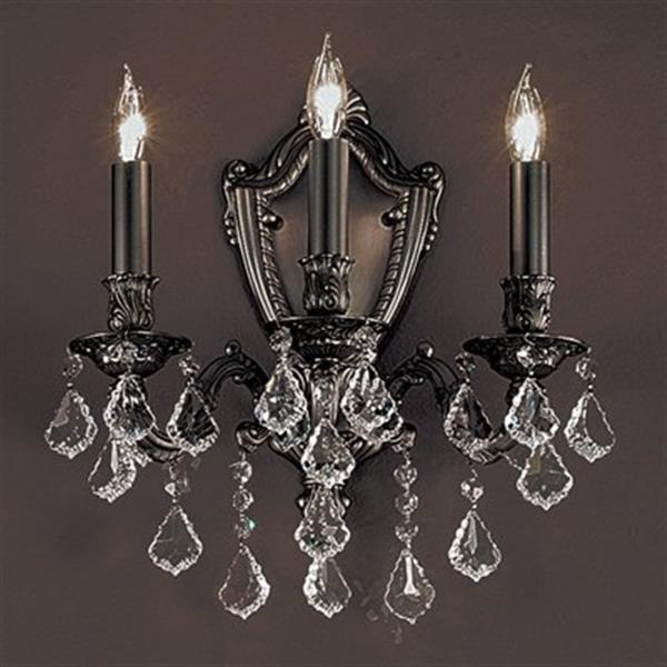 Classic Lighting Chateau Aged Bronze 3-Light Wall Sconce