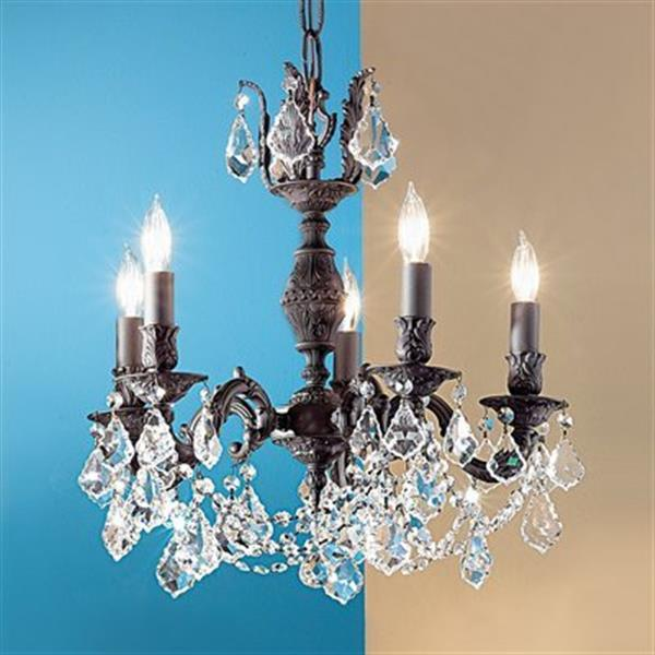 Classic Lighting Chateau Imperial 36-in Aged Bronze 5-Light Chandelier