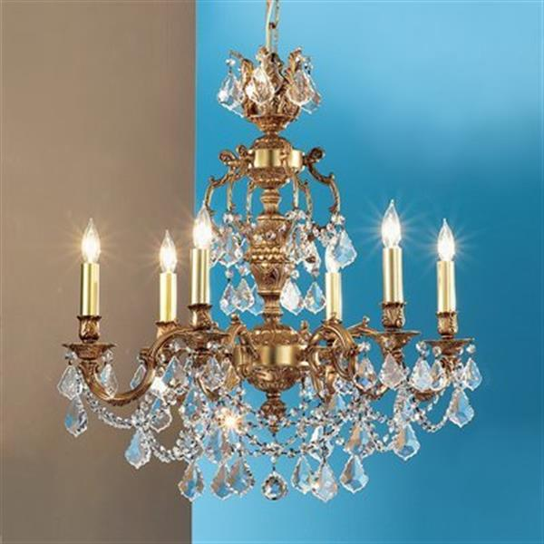Classic Lighting Chateau Imperial 6-Light Aged Pewter Chandelier