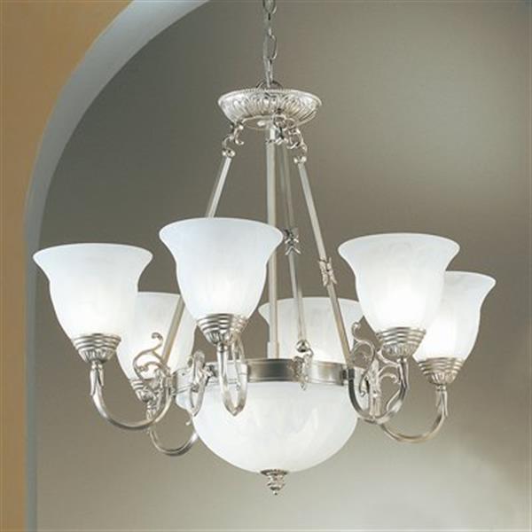 Classic Lighting Yorkshire 8-Light Nickel Chandelier
