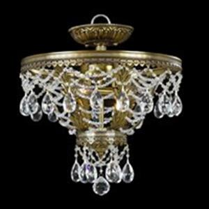 Classic Lighting Contessa 3-Light Renovation Brass Semi Flush Ceiling Light