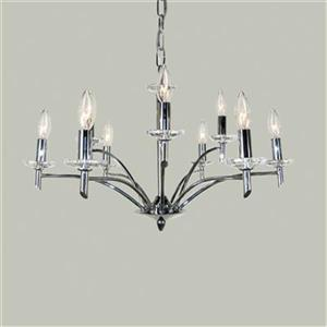 Classic Lighting Helsinki 9-Light Chrome Chandelier