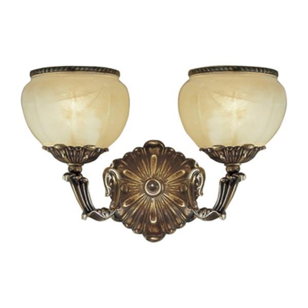 Classic Lighting Alexandria Victorian Bronze 2-Light Wall Sconce