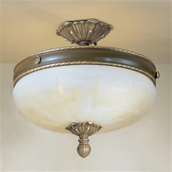 Classic Lighting Alexandria 4-Light Satin Bronze with Brown Patina Semi Flush Ceiling Light