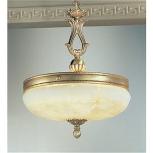 Classic Lighting 5-Light Alexandria Satin Bronze with Brown Patina Large Pendant Light