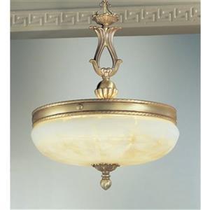 Classic Lighting 5-Light Alexandria Satin Bronze with Brown Patina Large Pendant Light