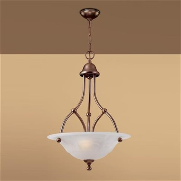 Classic Lighting 3-Light Providence Rustic Bronze Large Pendant Light
