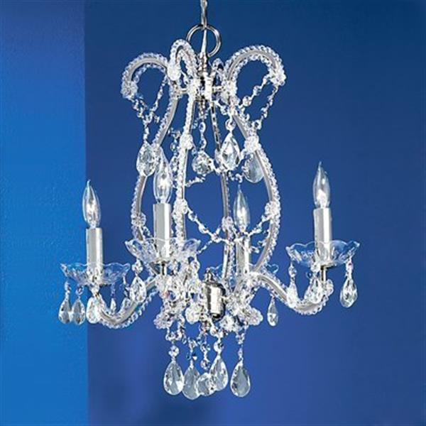 Classic Lighting Aurora 4-Light Chrome Chandelier