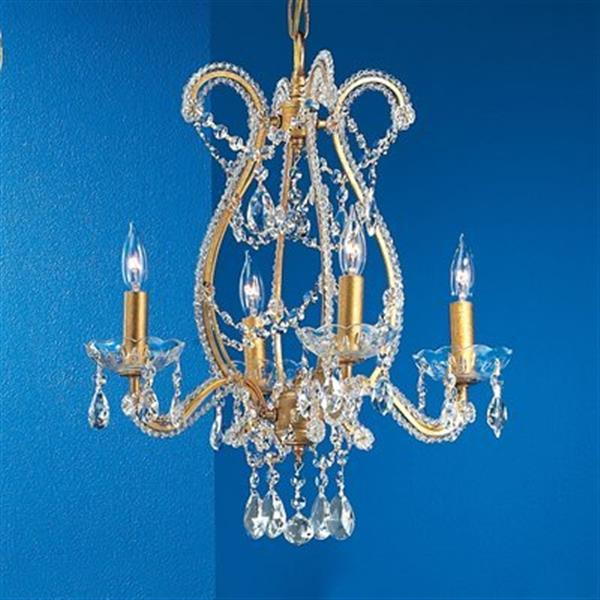 Classic Lighting Aurora 4-Light Gold Chandelier