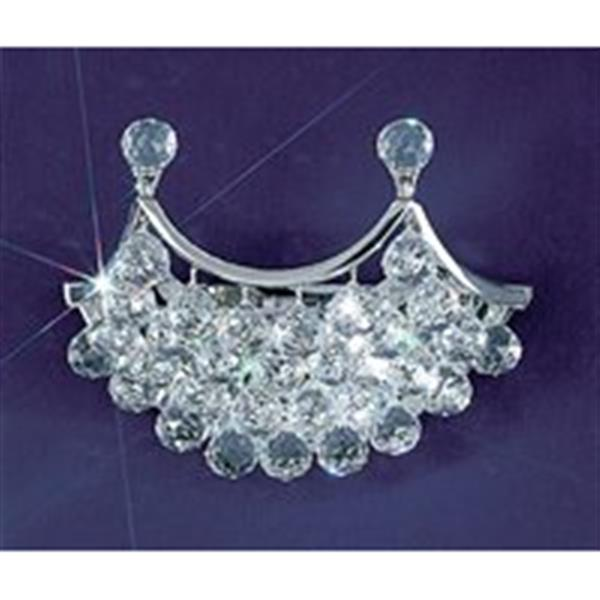 Classic Lighting Solitaire 10-in x 14-in Chrome/Swarovski Spectra Crystal 2-Light Wall Sconce