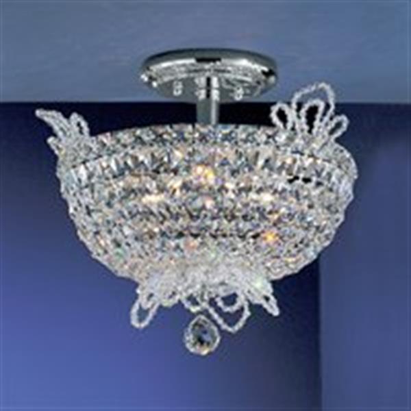 Classic Lighting Crown Jewels 6-Light Gold Plated Semi Flush Ceiling Light