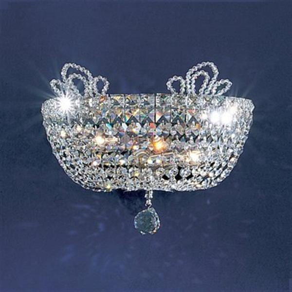 Classic Lighting Crown Jewels 10-in x 13-in Gold Plated/ Swarovski Strass 2-Light Wall Sconce