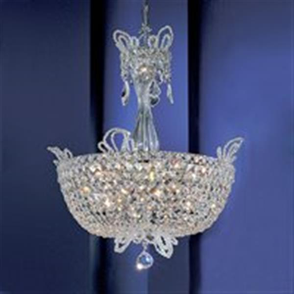 Classic Lighting 16-Light Crown Jewels Gold Plated Large Bowl Pendant Light