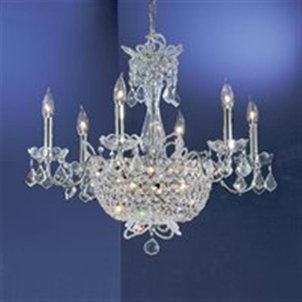 Classic Lighting 15-Light Chrome Crown Jewels Chandelier