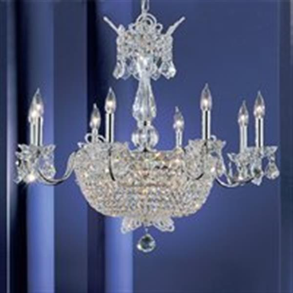 Classic Lighting 24-Light Chrome Crown Jewels Chandelier