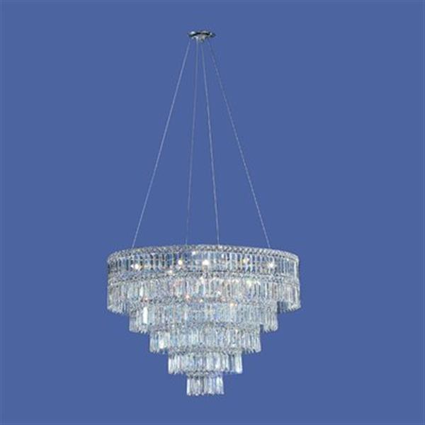 Classic Lighting Sofia Chrome Crystalique Golden Teak 11-Light Chandelier