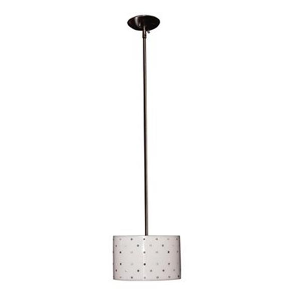 Classic Lighting Felicia Strass Brushed Steel Large Pendant Lighting