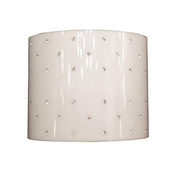 Classic Lighting Felicia Brushed Steel Strass Aquamarine 2-Light Wall Sconce