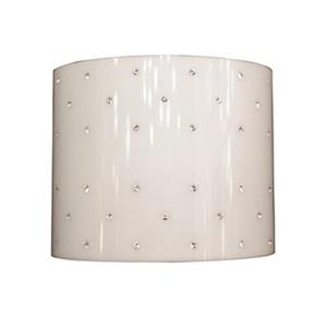 Classic Lighting Felicia Strass Brushed Steel/Strass Siam Red 2-Light Wall Sconce