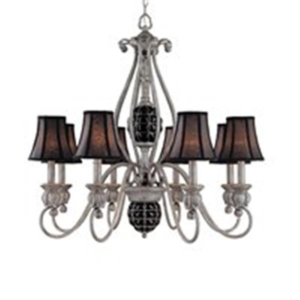 Classic Lighting Catturatto Argento Negro 8-Light Chandelier