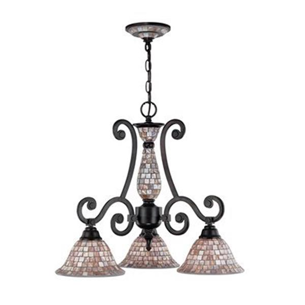 Classic Lighting Pearl River Oil Rubbed Bronze 3-Light Chandelier
