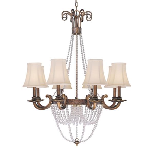 Classic Lighting Grace Copper Bronze 8-Light Chandelier