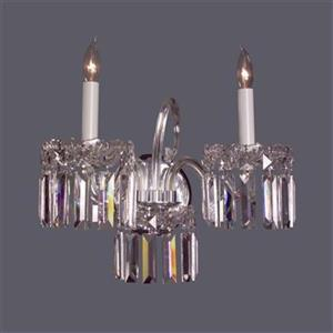 Classic Lighting Buckingham 11-in x 14-in Crystalique-Plus 2-Light Wall Sconce