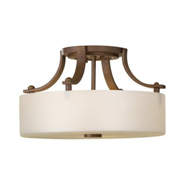 Feiss Sunset Drive 2-Light Corinthian Bronze Semi Flush Ceiling Light
