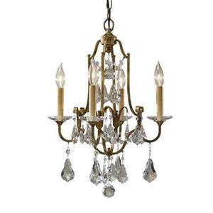 Feiss Valentina Collection 16.10-in Oxidized Bronze 4-Light Mini Chandelier