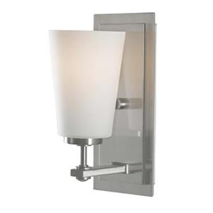Feiss Sunset Drive Brushed Steel 10-in x 4.50-in Wall Sconce