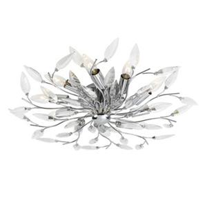 Eurofase 10 Light Chrome Felina Flush Mount Ceiling Light
