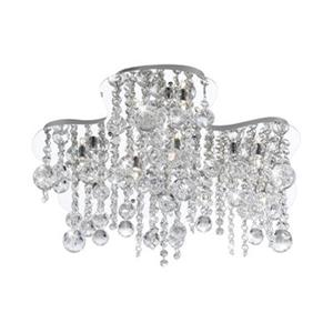 Eurofase 10 Light Chrome Alissa Flush Mount Ceiling Light
