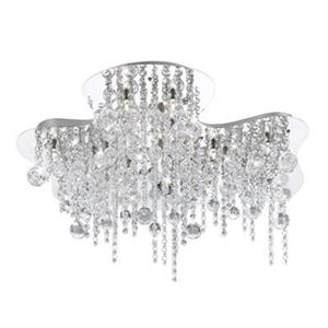 Eurofase 18 Light Chrome Alissa Flush Mount Ceiling Light