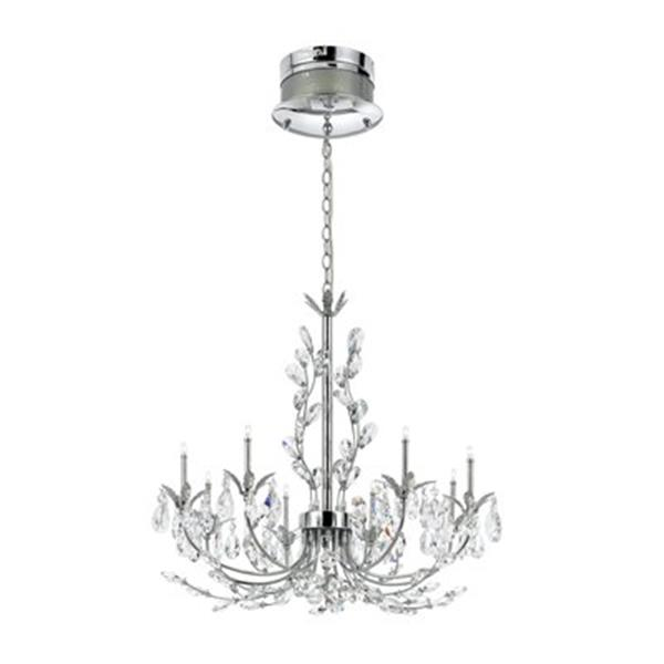 Eurofase Giselle Collection 25.25-in x 23.63-in Chrome 8-Light Chandelier
