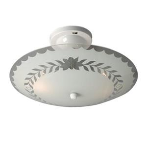 Galaxy White Round Bedroom Semi Flush Ceiling Light