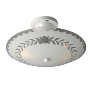 Galaxy White Round Bedroom Semi Flush Ceiling Light